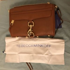 Rebecca Minkoff Bags - NWT Rebecca Minkoff Mini Mac Crossbody Almond